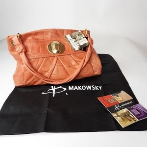 NWT B Makowsky Coral  Shoulder Bag